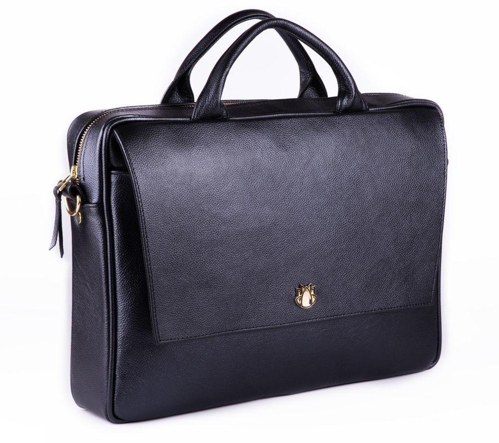 1e0521bf3 Dámská kožená taška na notebook FL14 Rimini černá
