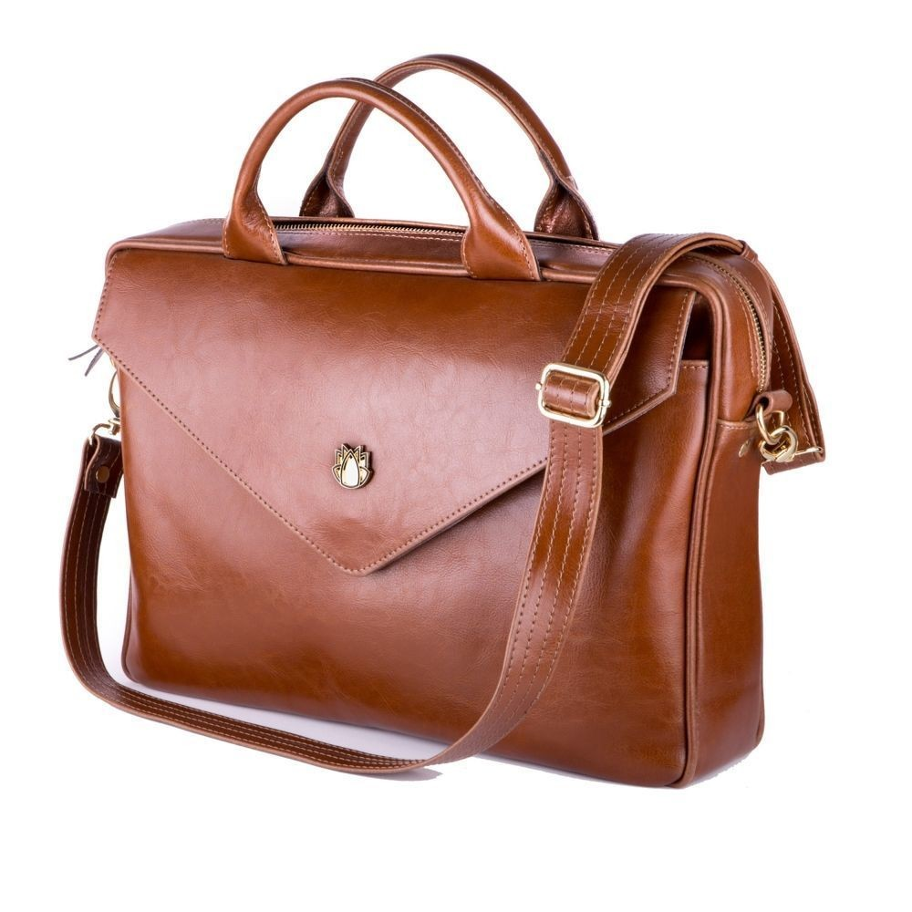 b2c7079514 Dámská kožená taška na notebook FL15 Positano hnědá vintage