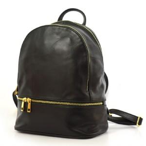 084769ab27 Dámský kožený batůžek Vera Pelle 53 černý