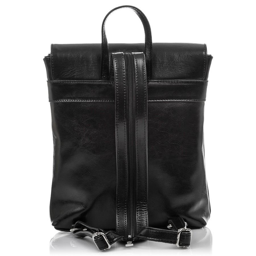 f96622910c Dámský menší kožený batoh Paolo Peruzzi 03 vintage šedý